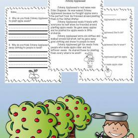 Unusual Johnny Appleseed 3Rd Grade Lesson Plans Johnny Appleseed Reading Comprehension Passage: Fun Johnn