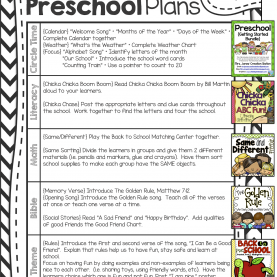 Unusual Lesson Plans For Preschool First Day Of School Peek At My Week * Back To Pre-School   Lesson Plan Templates, Pr