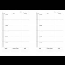 Useful 6 Lesson Teacher Planner Academic Page Layouts | Welcome To Simply Diarie