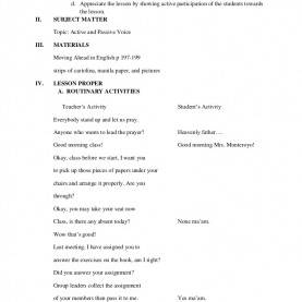 Useful Detailed Lesson Plan In Math Elementary Detailed Lesson Plan In Active And Passive Detailed Lesson Pla