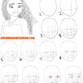 Useful Drawing Lessons Step By Step How To Draw Moana Easy Step By Step Drawing Tutorial For Kids An