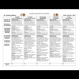 Useful Eld Lesson Plans Worksheets For All | Download And Share Worksheets | Free O