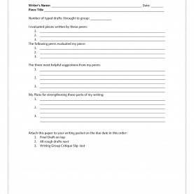 Useful English Lesson Plan For Third Year High School Teach It Write : Write Right! Incredible Critique Forms And Rub