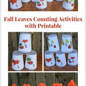 Useful Fall School Activities Fall Leaves Counting Activities With Printable- There Are A Lot O