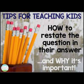 Useful Go Math 1St Grade Lesson Plans Teaching With A Mountain View: Restating The Question Le