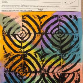 Useful Intermediate Art Projects Framed In Swirly Gold: Square 1 Art Proj