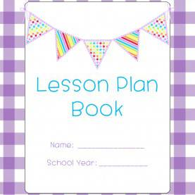 Useful Lesson Plan Book Cover Design Lesson Plan Templates & More! {Purple Gingham With Pendant
