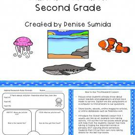Useful Ocean Lesson Plans 3Rd Grade Ocean Animals And Habitat Research Second Grade   Library Lesson