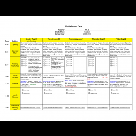 Useful Sample Weekly Lesson Plan For Infants Best Photos Of Excel Lesson Plan Template - Esl Lesson Pla