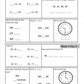 Useful Second Grade Lessons Free 2Nd Grade Daily Math Worksh