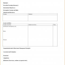 Useful Simple Lesson Plan Sample Closure Report Template Cool 6 Simple Lesson Plan Templat