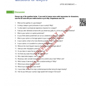 Useful Tefl Lesson Plans For Adults Questions For Lawyers: Esl/efl Lesson Plan And Worksheet   Es
