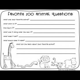 Useful Zoo Lesson Plans 1St Grade Zoo Animals Writing | Classroom Freebies, Zoos And Field T
