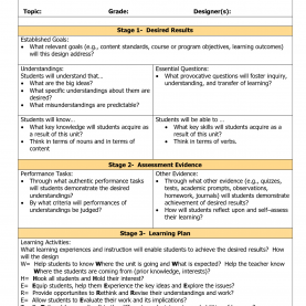 Valuable Assessment For Learning Lesson Plan Template Blank Ubd Template | Things For The Classroom | Pinteres