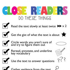 Valuable Close Reading Lesson Plan 8Th Grade Downloadable Close Reading Anchor Chart | Fourthgradefriends.Co