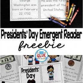Valuable First Grade Lesson Plans Presidents Day Presidents' Day Emergent Reader   Social Studies Lesson Plan