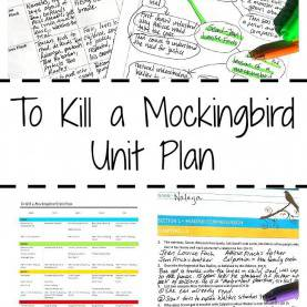 Valuable High School Lesson Plans For To Kill A Mockingbird To Kill A Mockingbird Unit Plan As A Novel Study | Activitie