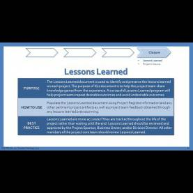 Valuable It Project Lessons Learned Template Texas Department Of Information Resources Presents - Ppt Vide