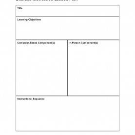 Valuable Lesson Plan Example Objectives Instructional Design/blended Learning Lesson Plans/designing