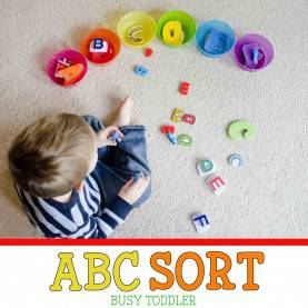 Valuable Literacy Lesson Plans For Toddlers Abc Sort: Toddler Literacy Activity - Busy Tod