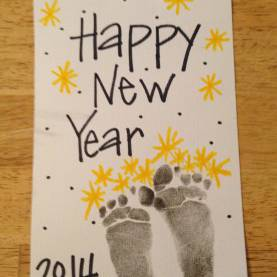Valuable New Years Infant Lesson Plans New Year Footprints - Fireworks   New Years   Pinteres