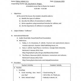 Valuable Semi Detailed Lesson Plan In Physics A Detailed Lesson Plan In Word Templates Invitation Microsoft Wor