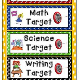 Valuable Subjects Taught In Kindergarten Learning Targets For Your