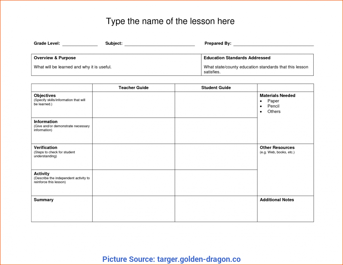 This is a photo of Printable Lesson Plans inside template