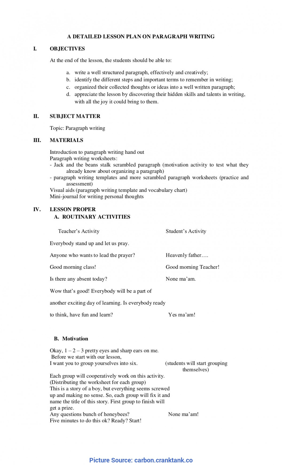 Top Detailed Lesson Plan For Grade 2 English College Essay Lesson Plans Narrative Writing Ideas Prompts Lesso