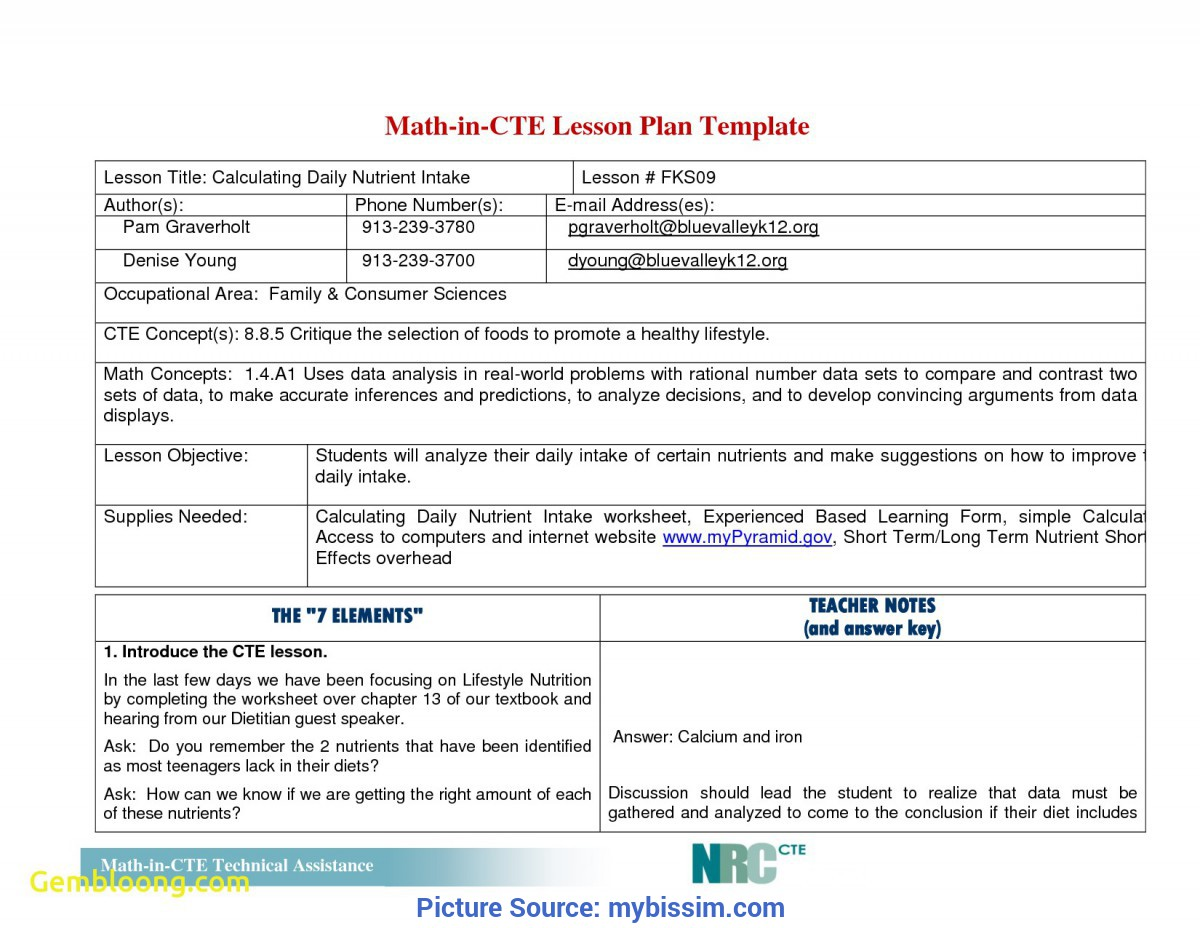 Top Unit Plan Example Elementary Inspirational Simple Lesson Plan Template   Best Templ