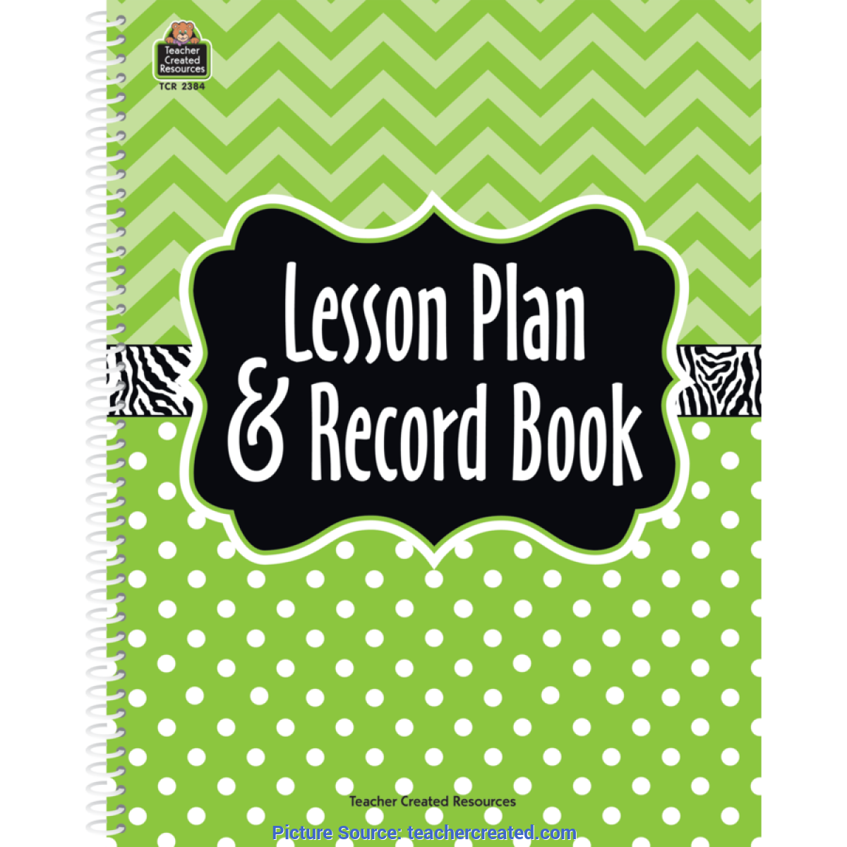 Trending Teacher Planner And Record Book Lime Chevrons And Dots Lesson Plan & Record Book - Tcr238
