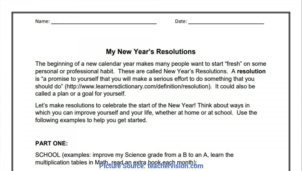 Typical English Lesson Plan For Class 7 New Year'S Activities, Lessons, & Printables For Teachers (K-1