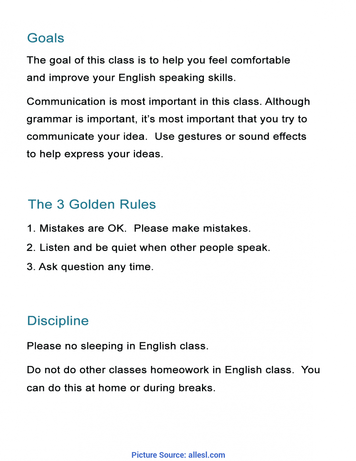 Typical Lesson Plan In English 3 13 Free Esl Lesson Plans To Master Your Esl Classes - Al