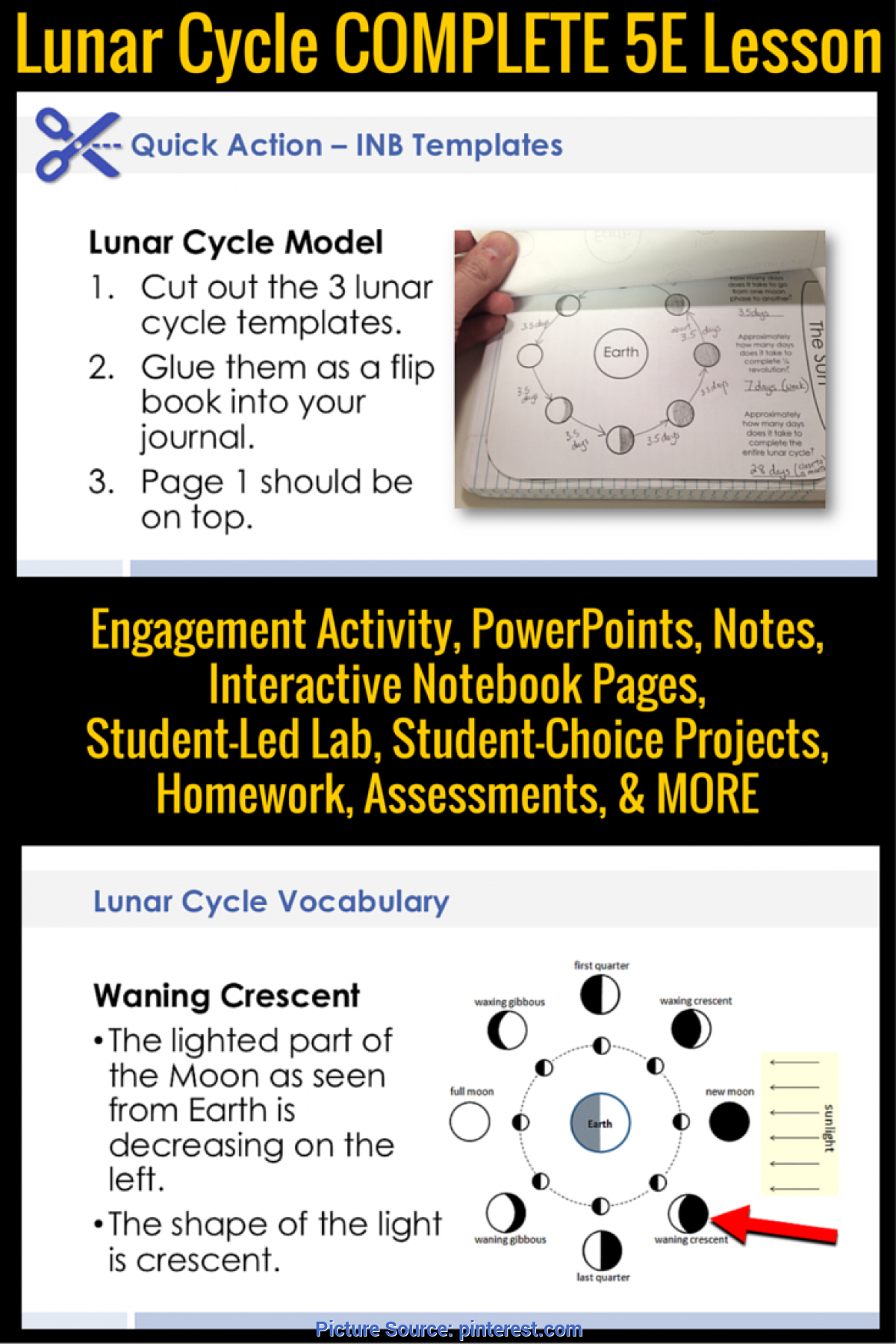 Unusual 5E Lesson Plan On Light Moon Phases Complete 5E Lesson Plan | Moon Phases, Students An