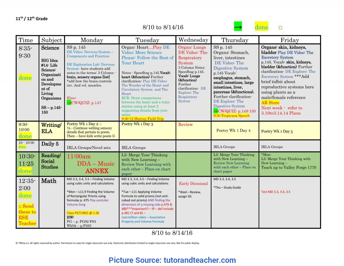 Unusual How To Make A Lesson Plan For 2Nd Grade 11Th Eleventh Or 12Th Twelfth Grade Lesson Plan Template: One Wee