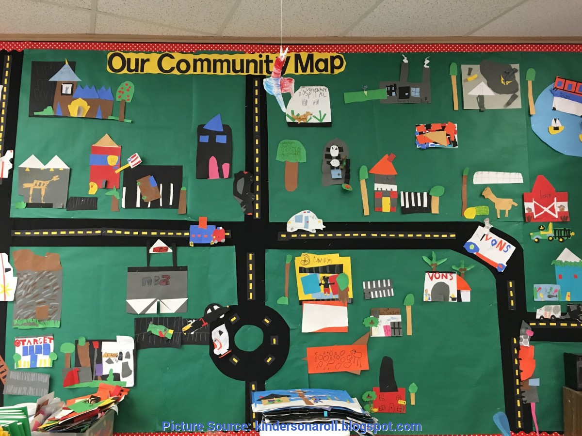 Unusual Our Community Helpers Kinders On A Roll: Community Map & Community Hel