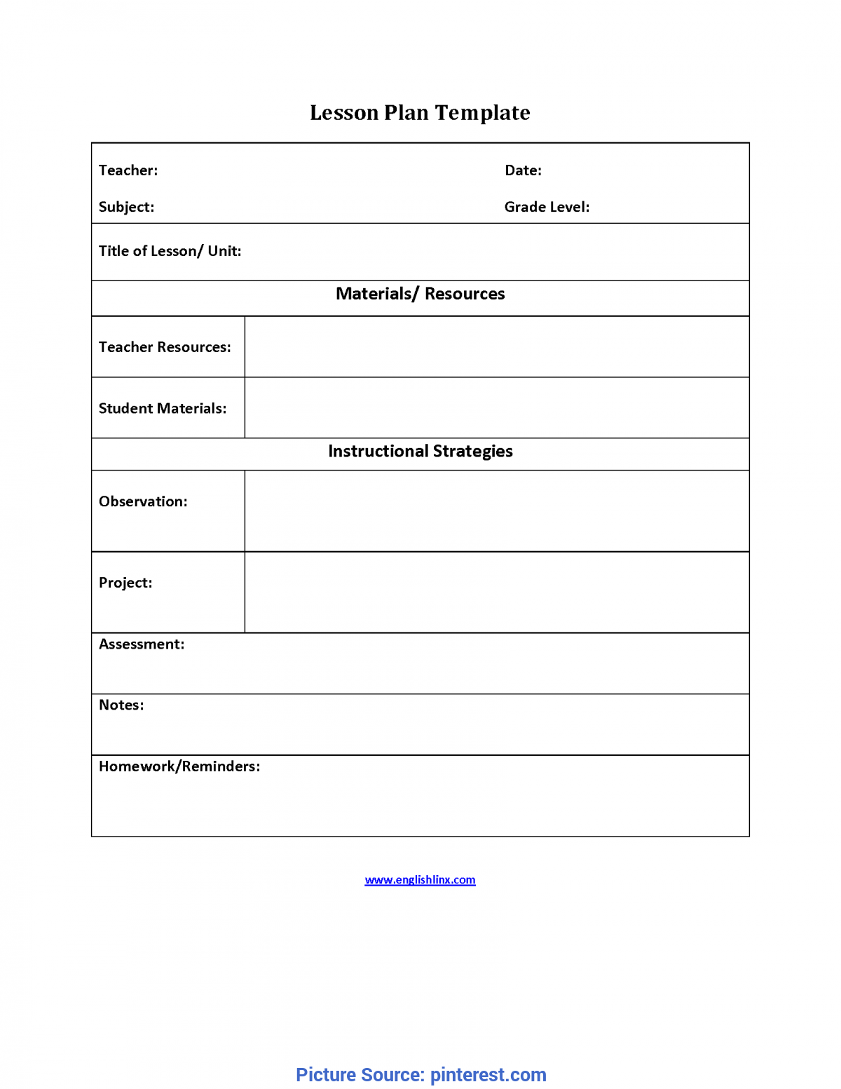 Useful Interactive Lesson Plan Template Simple Lesson Plan Template   Interactive Grammar Book 9-201
