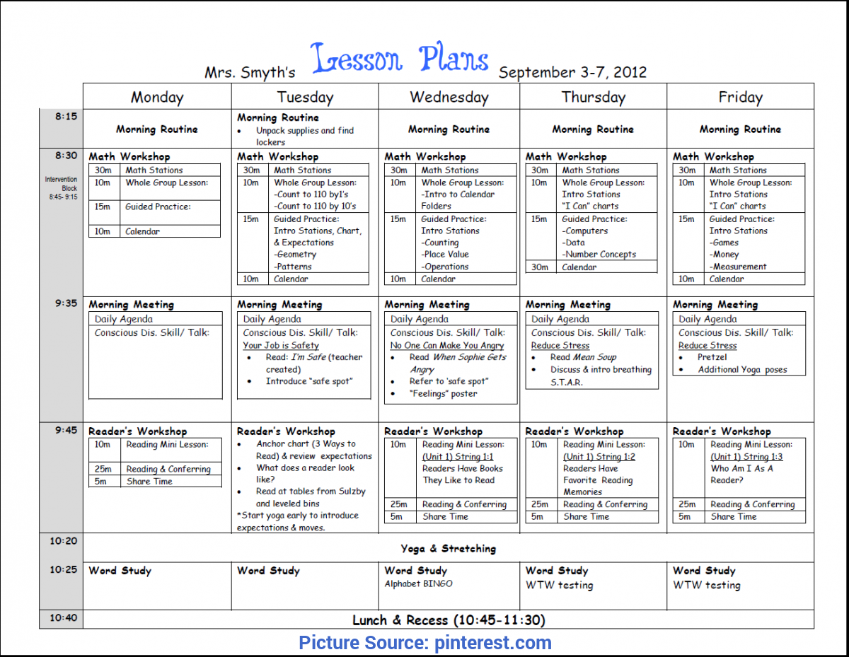 Valuable Lesson Plan Book For High School Teachers First Week Lesson Plans (First Grade) | Beginning Of Yea