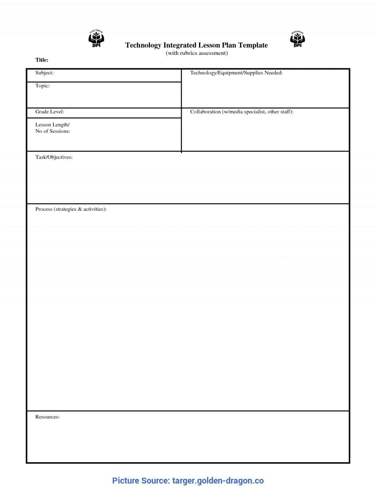 Valuable Simple Lesson Plan Template Printable Lesson Plan Blank Template - Targer.Golden-Drago